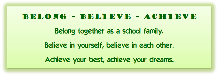 Belong Believe Achieve Header